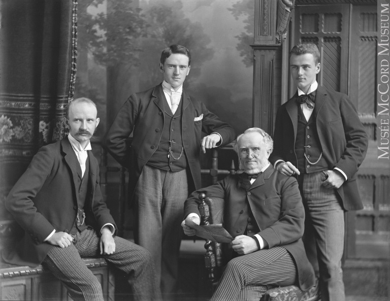 William Notman with sons William McFarlane, Geroge and Charles in Montreal 1890