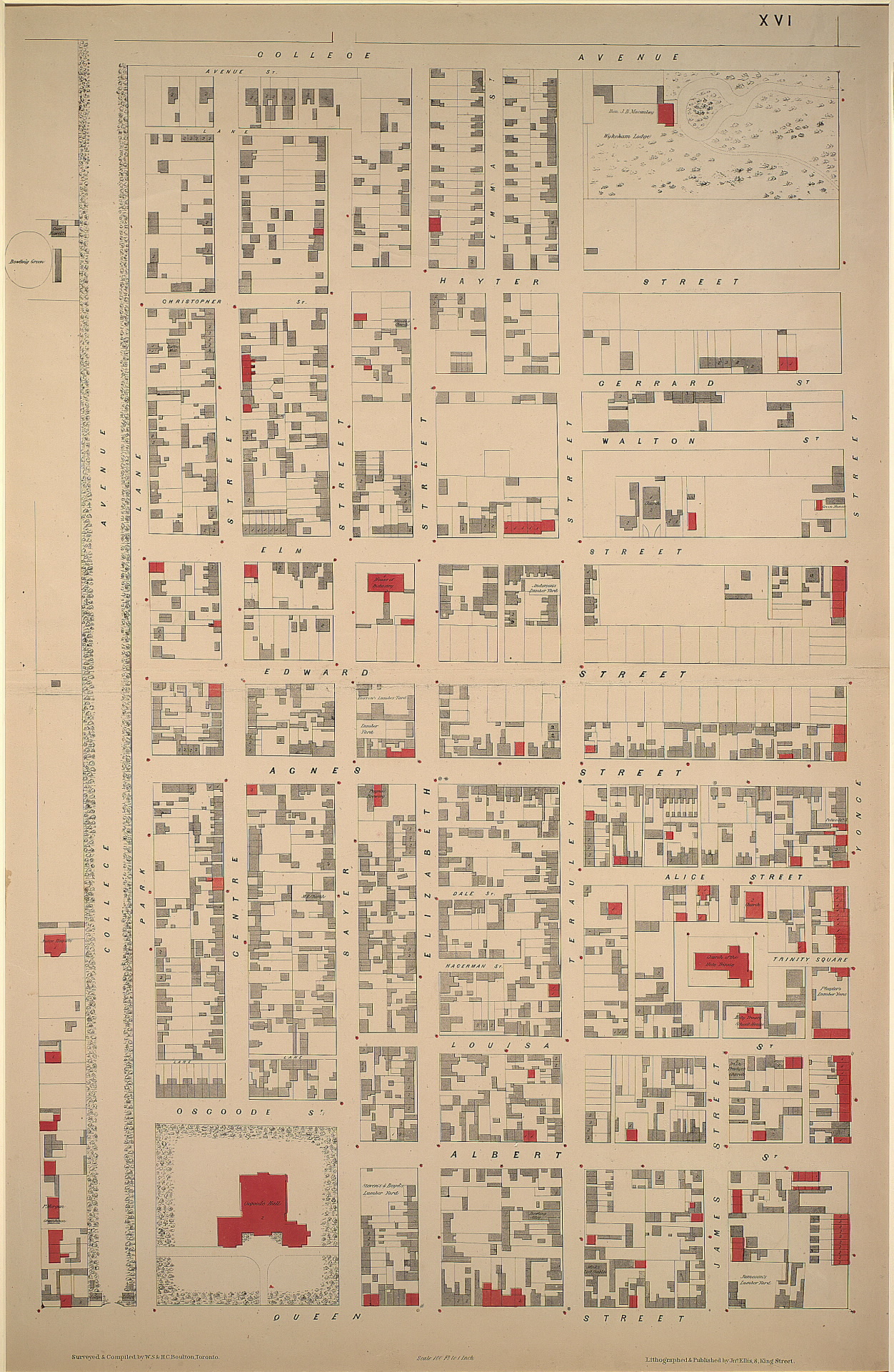 Osgoode Hall 1858 Boulton Atlas